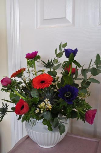 Elegant White Vase and Flowers